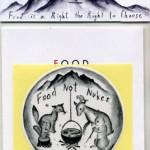 Food Not Nukes ステッカー(どうぶつ)