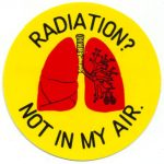 RADIATION? NOT IN MY AIR ステッカー