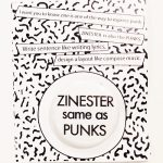 ZINESTER same as PUNKS バッヂ(白)