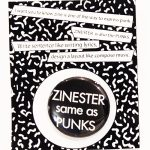 ZINESTER same as PUNKS バッヂ(黒)