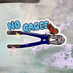 No Cages ステッカー