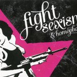 Fight Sexism & Homophobia ステッカー