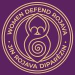 Women Defend Rojava · Jin Rojava Diparêzin ステッカー