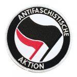 Antifaschistische Aktion (black/red) 刺繍パッチ