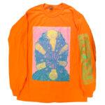"Tetsunori Tawaraya ""Shrimp"" Long sleeve T-shirt (Safety Orange)"